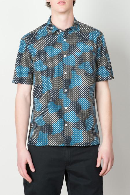 YMC Spot Cloud Shirt In Blue