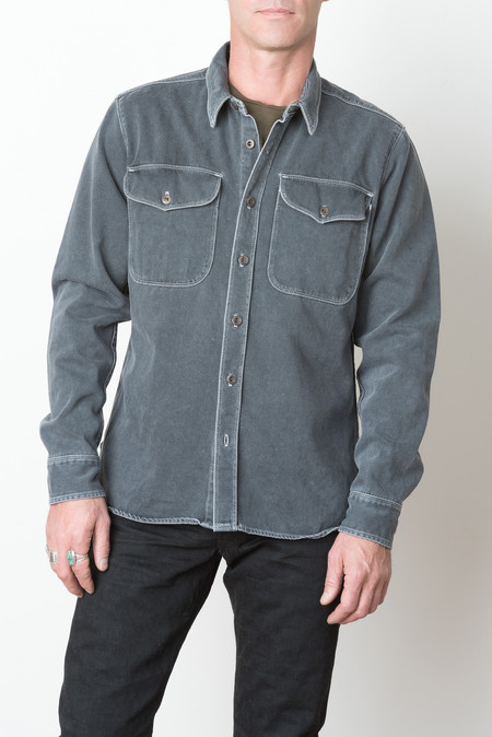 Freenote Cloth Utility Shirt In Charcoal