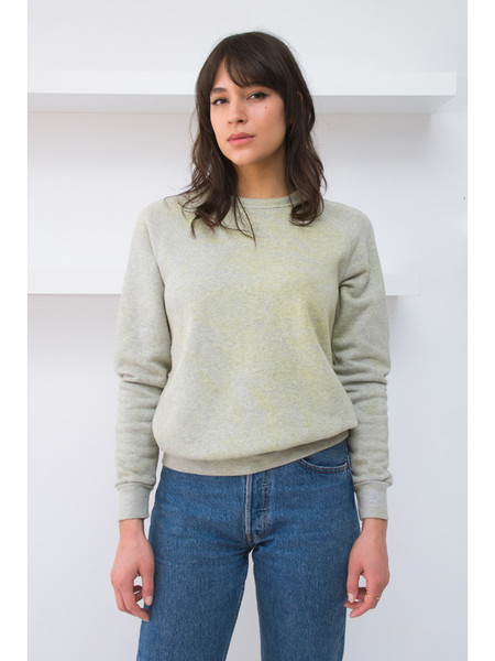 Audrey Louise Reynolds Eco Fleece Sweatshirt - Heathered Grey/Yellow