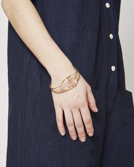 Open House Face Bracelet in Brass