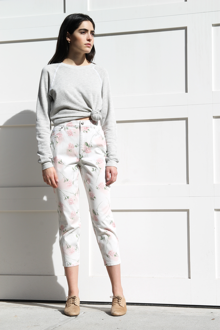 DUO NYC Vintage | ESCADA ROSE PRINT PANTS