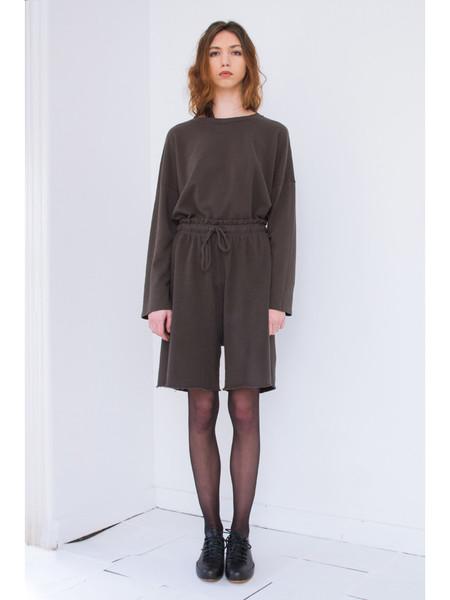 Lauren Manoogian Miter Sweat Shorts, Carbon