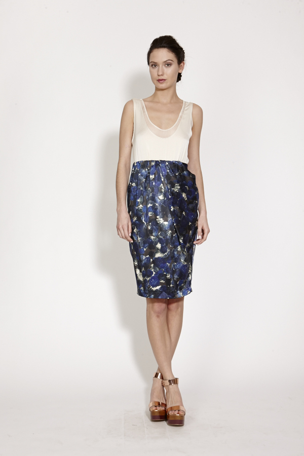 TiA CiBANi Draped tulip skirt with elastic waist
