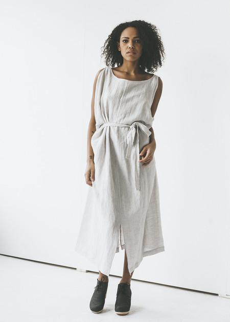Sunja Link - Drape Dress in Silver