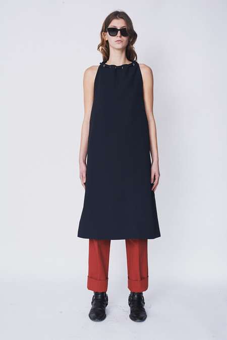 Nomia Oxford Halter Dress