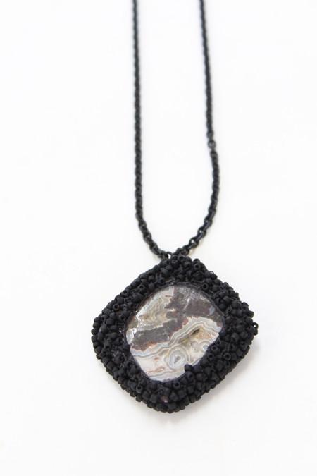 Jacki Holland Necklace Crazy Lace Agate