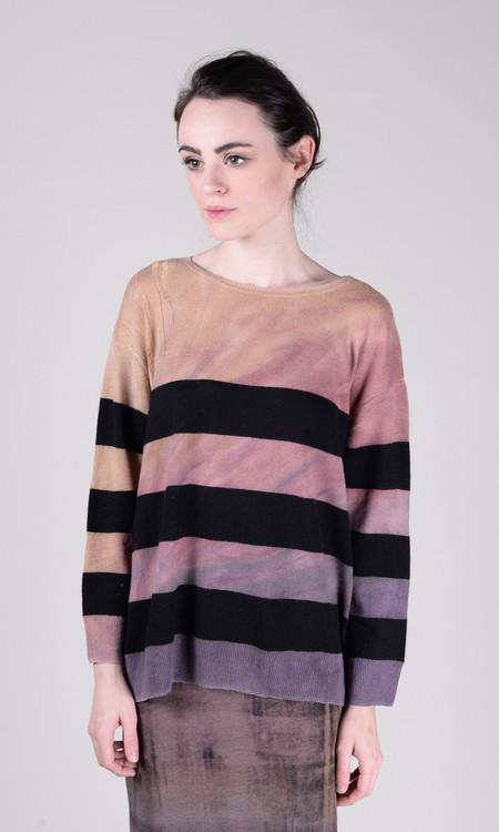 Raquel Allegra Crop Sleeve Boxy Sweater