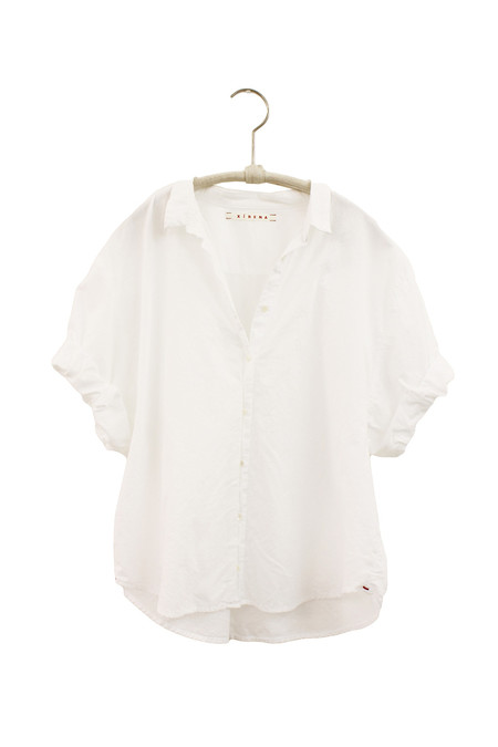 Xirena COTTON POPLIN CHANCE CROPPED SHIRT - WHITE