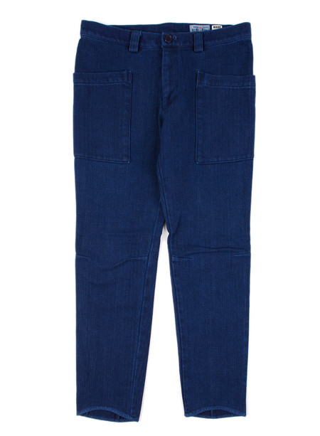 "Blue Blue Japan Pure Indigo ""Sashiko"" Matsuri Fit Skinny Pants"