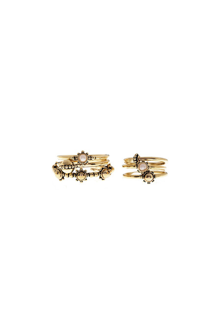 LUV AJ Baroque Stack Ring Set