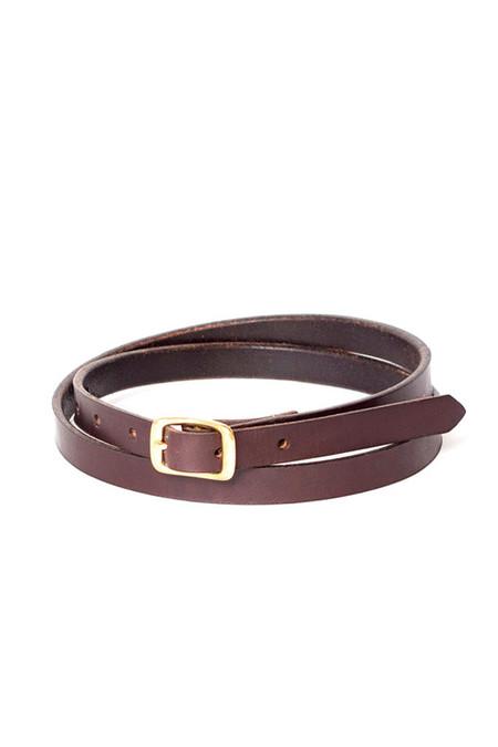 Wood & Faulk Matchstick Belt Dark Brown