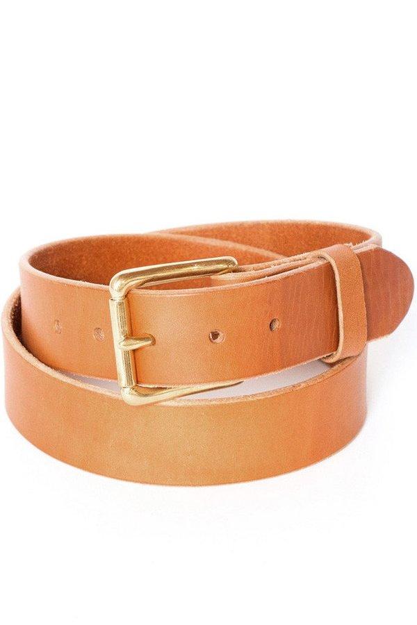 Wood&Faulk Standard Belt Tan