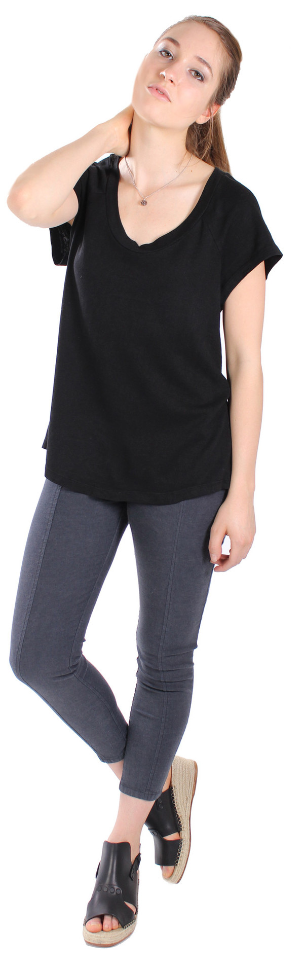 Prairie Underground Breezy Top in Black