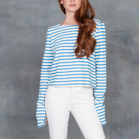 Organic By John Patrick Long Sleeve Pocket Tee in Stripe
