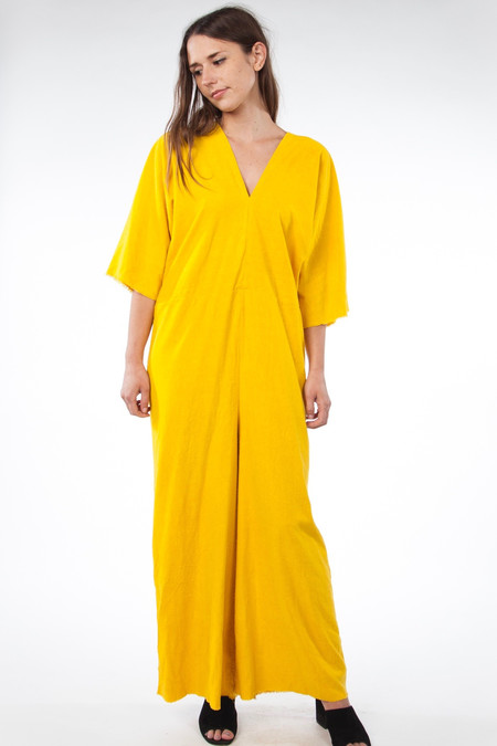 Miranda Bennett Muse Jumpsuit - Silk Noil in Marigold