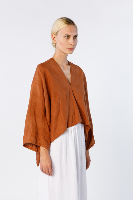 Miranda Bennett Muse Top - Linen in Marfa