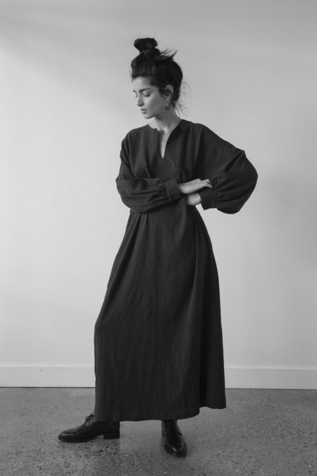 Sunja Link Cotton Long Raglan Sleeve Dress