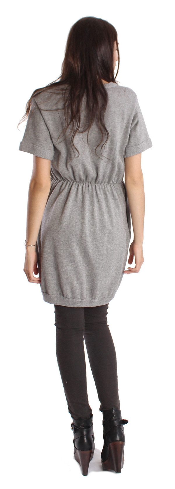 Shae Cashmere/Cotton T-Shirt Dress