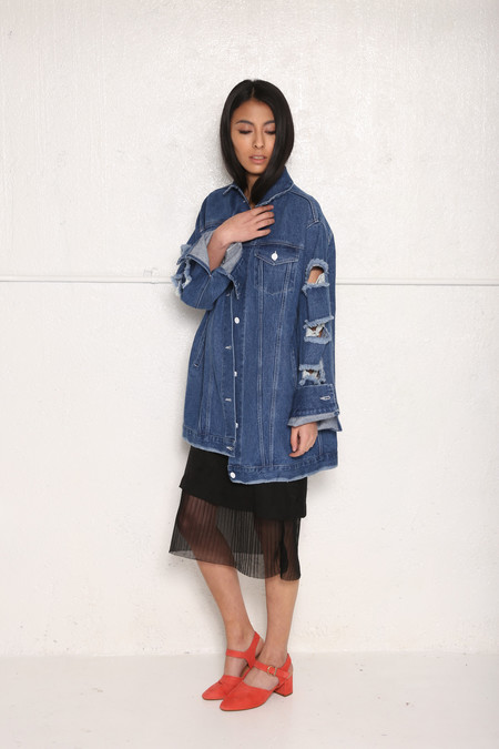 Unisex Intentionally Blank HARPINGTON Dark Denim Jacket
