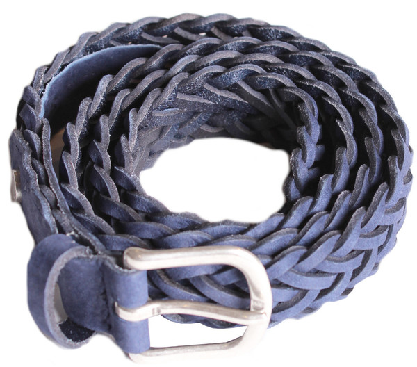 Rag & Bone Classic Braided Belt in Cobalt