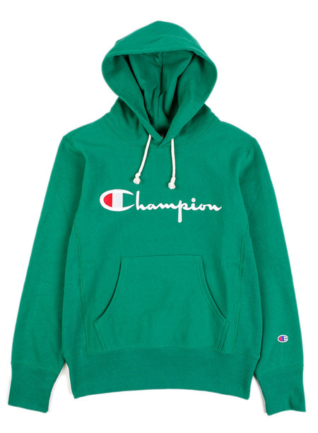 Champion Reverse Weave Hooded Sweatshirt Green