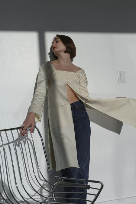 Maryam Nassir Zadeh Llonga Tunic in Off-White
