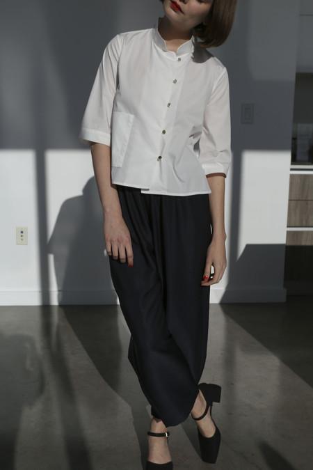 Suzanne Rae Elastic Waist Pant in Blue/Black