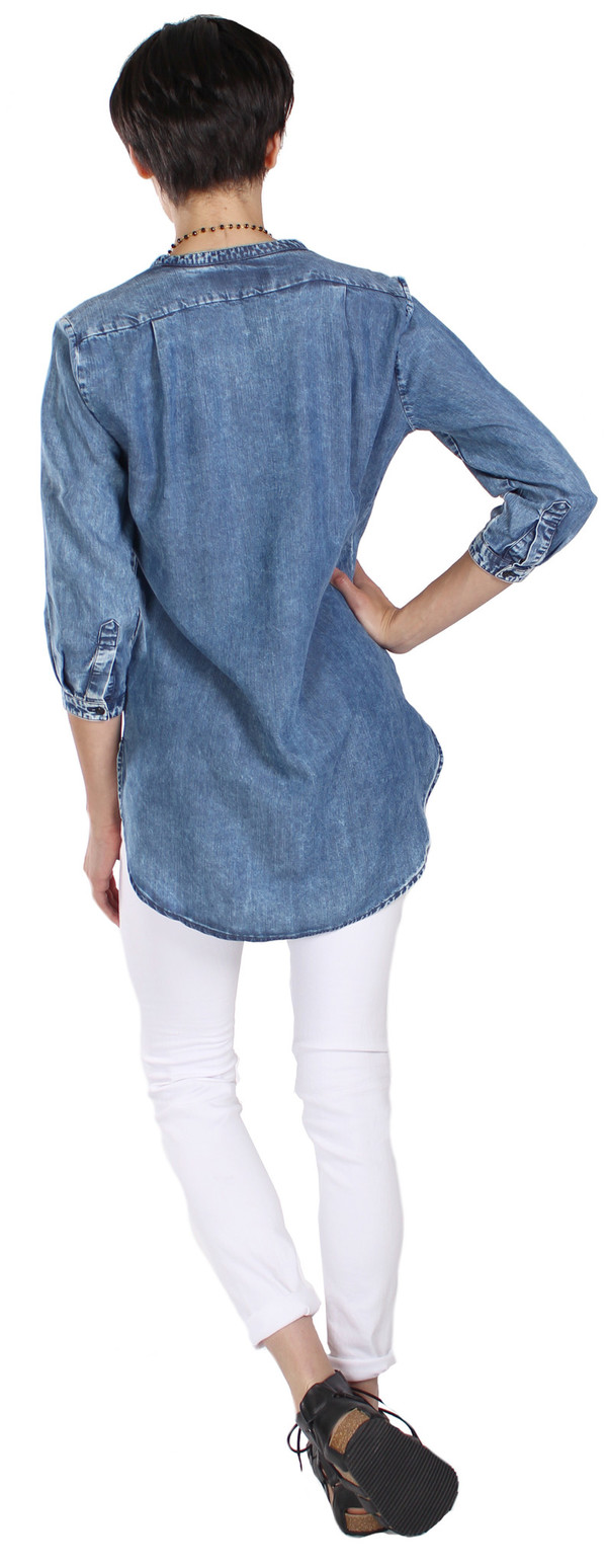 European Culture Denim Shirt
