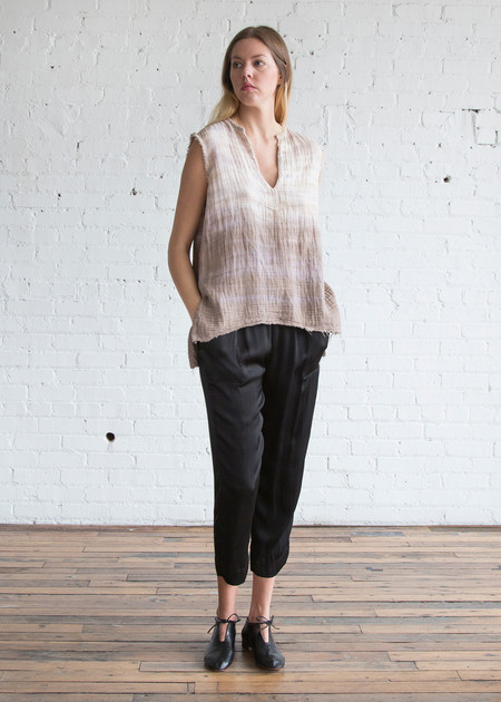 Raquel Allegra Tie Dye Sleeveless Tunic Sand