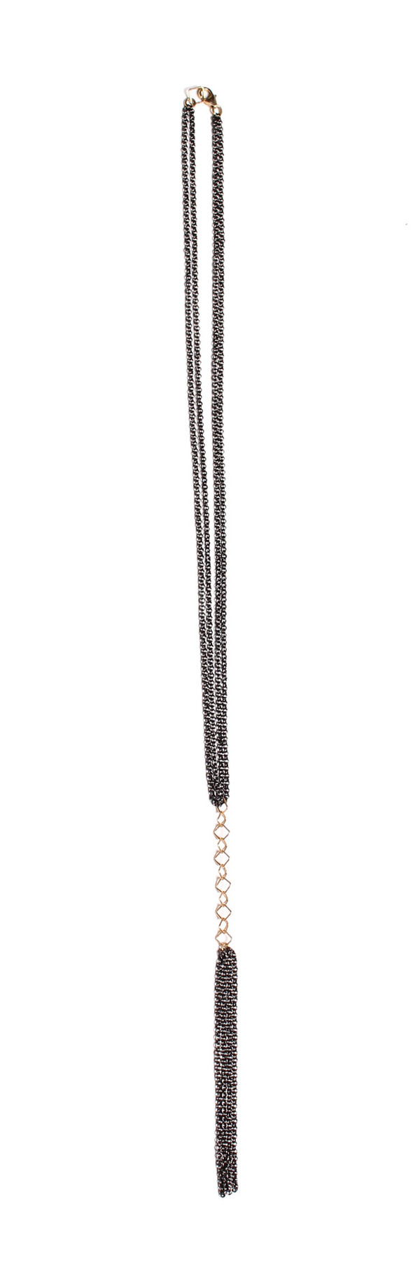 Nancy Caten Double Strand Tassel Necklace