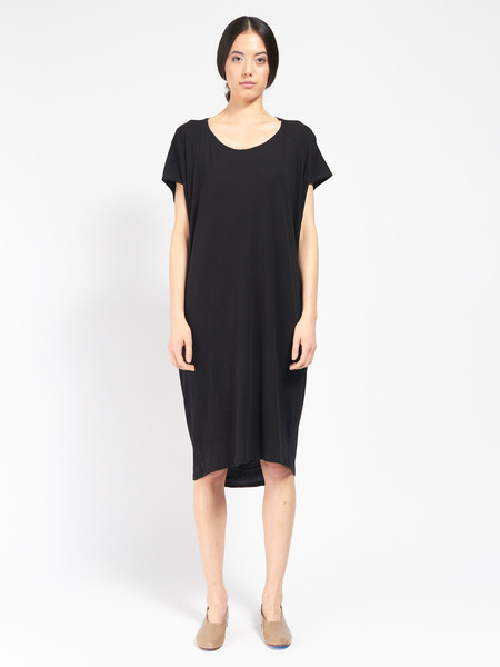 Kowtow Building Block Drape Dress Black