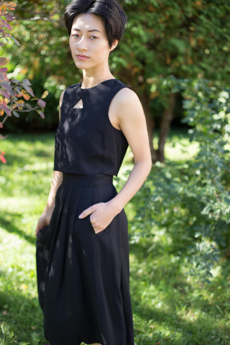 Birds of North America Godwit Skirt - Black