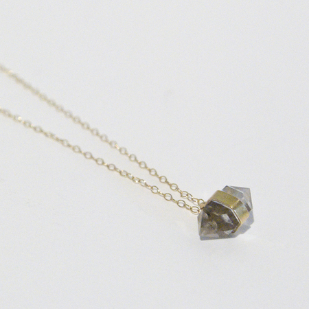 BLTN Gold Diamond Drop Necklace