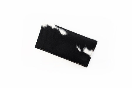 Primecut BLACK AND WHITE COWHIDE WALLET