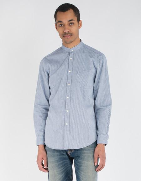Portuguese Flannel Cacau Shirt White Blue