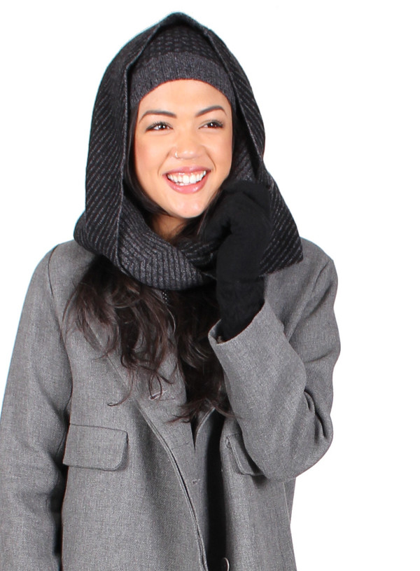 Quinn Jacquard Snood in Black