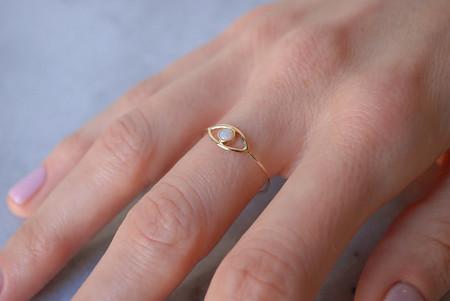 Kristen Elspeth Evil Eye Ring