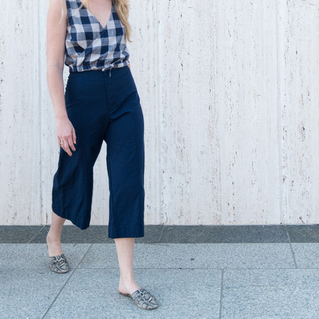 Esby LUCIA SEAMED CANVAS PANT NAVY