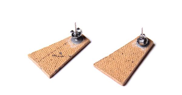 Maple & Mauve Natural Stone Deco Earring