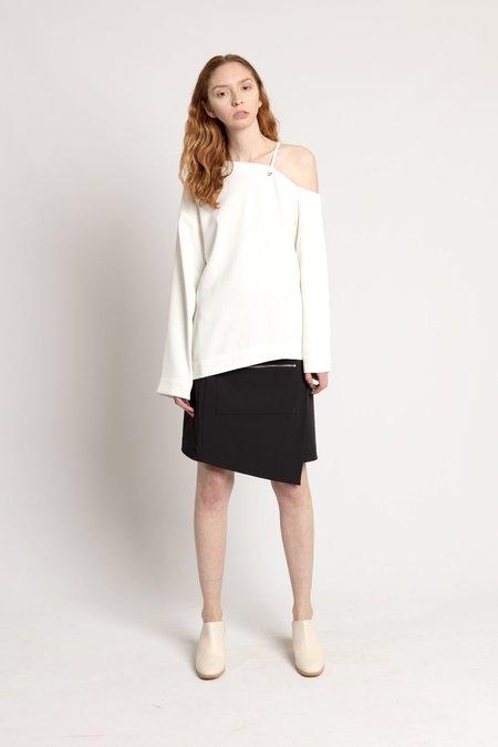 Nomia White Laced Shoulder Top