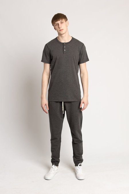 Reigning Champ Charcoal S/S Ringspun Jersey Henley