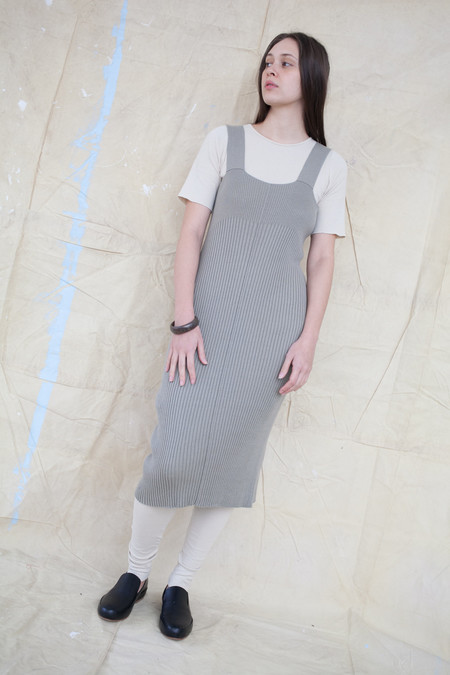 Lauren Manoogian Rib Dress in Clay