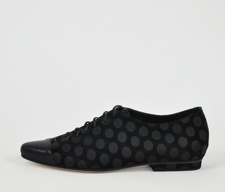 The Palatines Shoes pactor derby lace-up - black dot suede w black leather