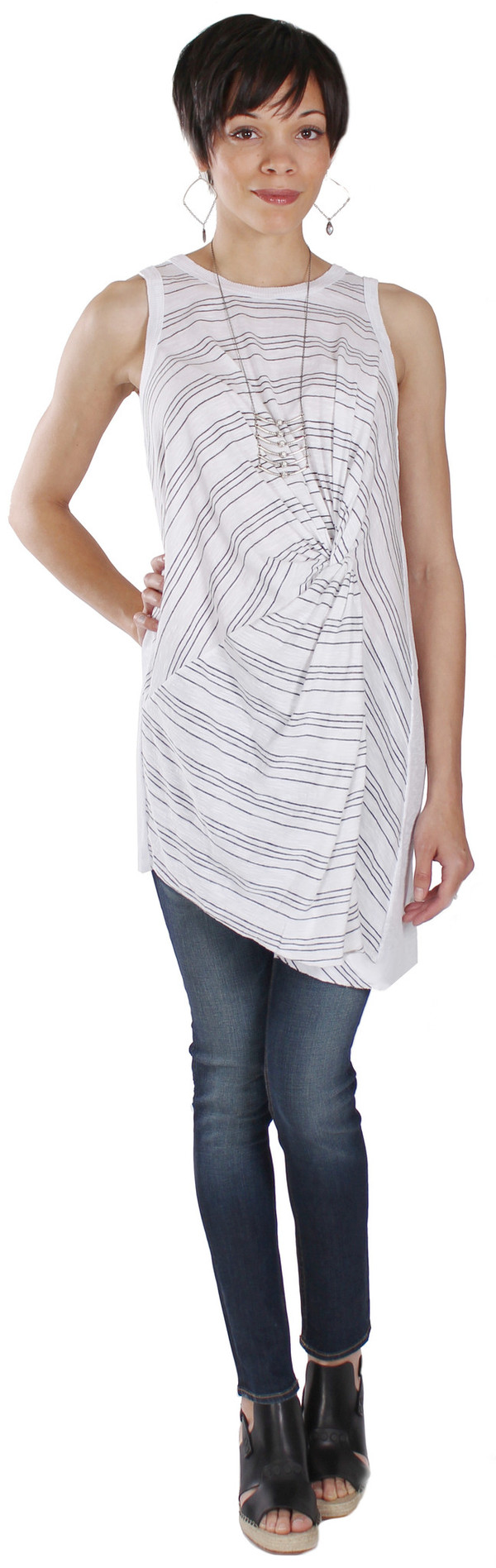 Tina + Jo Stripe Twist Tunic