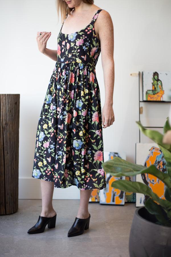 Samantha Pleet Myth Dress (Black Wallpaper Print)