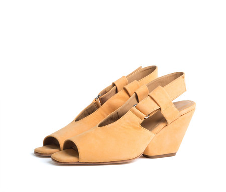 the palatines shoes inopia slingback sandal w sculpted heel -  citrus nubuck (web exclusive)