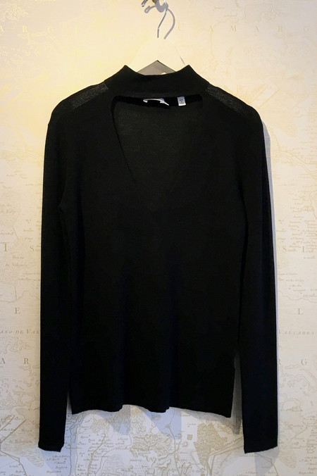 A.L.C. 'Caro' Deep V Choker Sweater
