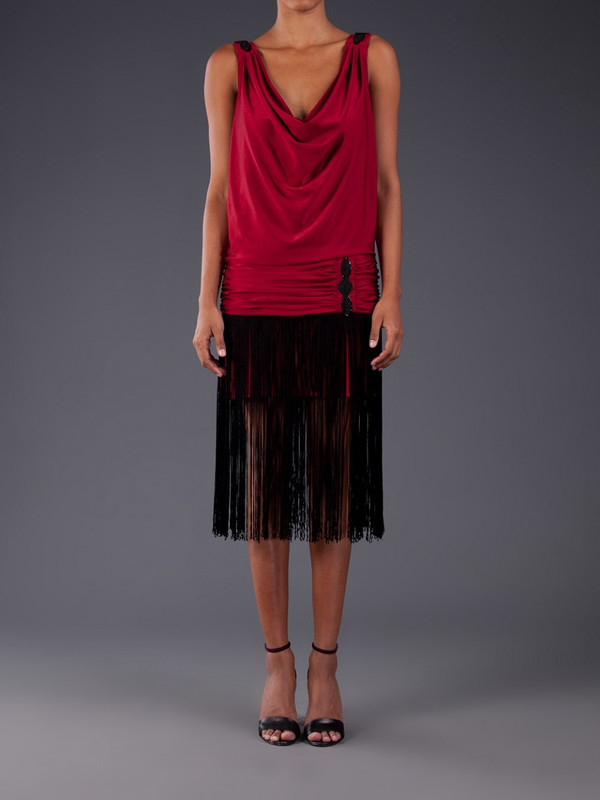 Julia Clancey Flap Fringe Dress Red from Any Old Iron ...