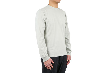 Stone Island LONG-SLEEVED T SHIRT COTTON JERSEY - PEARL GREY