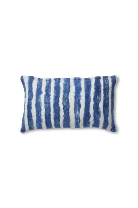Minna Painted Stripes Pillow, blue